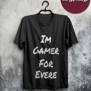 خرید رنگ مشکی تی شرت Im Gamer For Ever